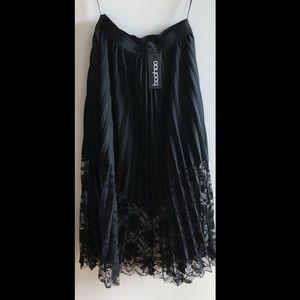 Boohoo pleated formal skirt